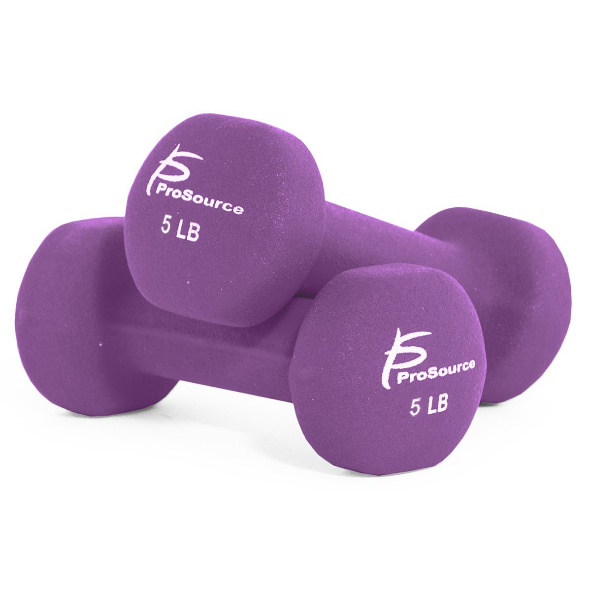 ProSource Set of Two Neoprene Dumbbells Coated